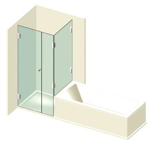dusche mit badewannenaufsatz typ 608 bader glastechnologie. Black Bedroom Furniture Sets. Home Design Ideas